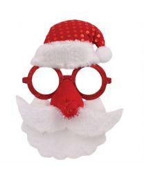 Kerst Accessoires: Bril Met Kerstmangezicht
