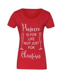 "Kerst T-shirt ""Prosecco is for life, not just for Christmas"" Dames"