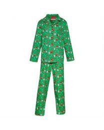 Kerstpyjama Kerst Groen Dames
