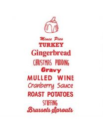 "Kerstschort ""Christmas Pudding"""