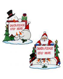 Kerst Accessoires Raam Decoratie
