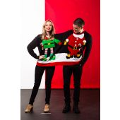 Kersttrui Duo Kerstman & Elf Heren/Dames